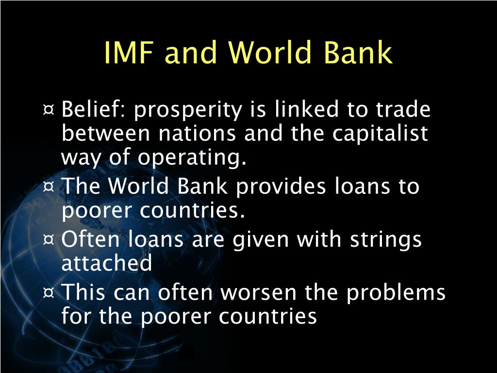 are imf loans good poor countires