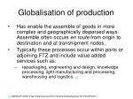 globalisation of production