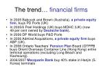 the trend financial firms