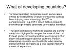 what of developing countries