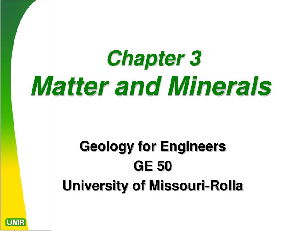 chapter 3 matter and minerals l.