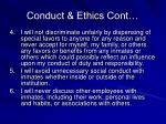 conduct ethics cont
