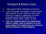 conduct ethics cont1