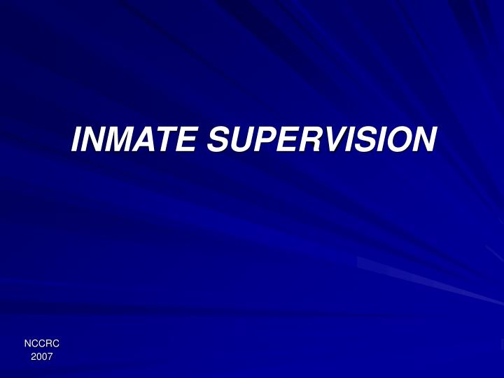 inmate supervision n.