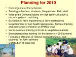 planning for 2010
