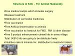 structure of k m for animal husbandry