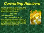 converting numbers