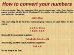 how to convert your numbers