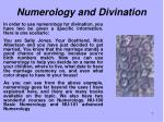 numerology and divination