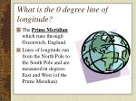 what is the 0 degree line of longitude