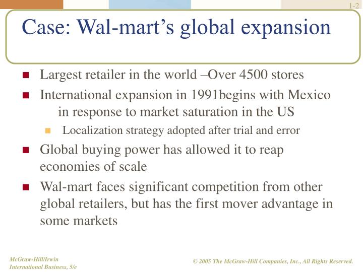 case study wal mart's foreign expansion