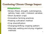combating climate change impact
