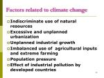 factors related to climate change