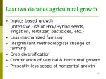 last two decades agricultural growth