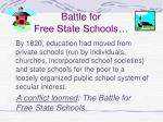 battle for free state schools