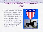 equal protection taxation cont
