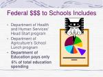 federal to schools includes