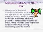 massachusetts act of 1827 cont76