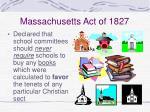 massachusetts act of 1827