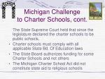 michigan challenge to charter schools cont