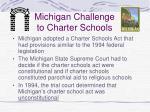 michigan challenge to charter schools