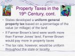 property taxes in the 19 th century cont32