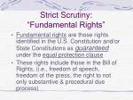 strict scrutiny fundamental rights