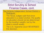 strict scrutiny school finance cases cont