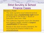 strict scrutiny school finance cases