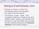 taxing to fund schools cont