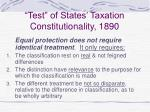 test of states taxation constitutionality 1890