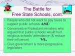 the battle for free state schools cont