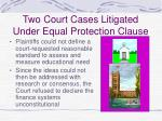 two court cases litigated under equal protection clause42