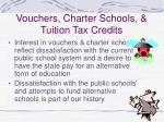 vouchers charter schools tuition tax credits