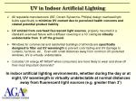 uv in indoor artificial lighting