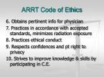 arrt code of ethics7