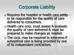 corporate liability