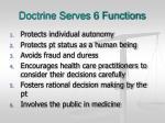 doctrine serves 6 functions