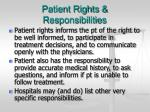 patient rights responsibilities