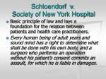 schloendorf v society of new york hospital