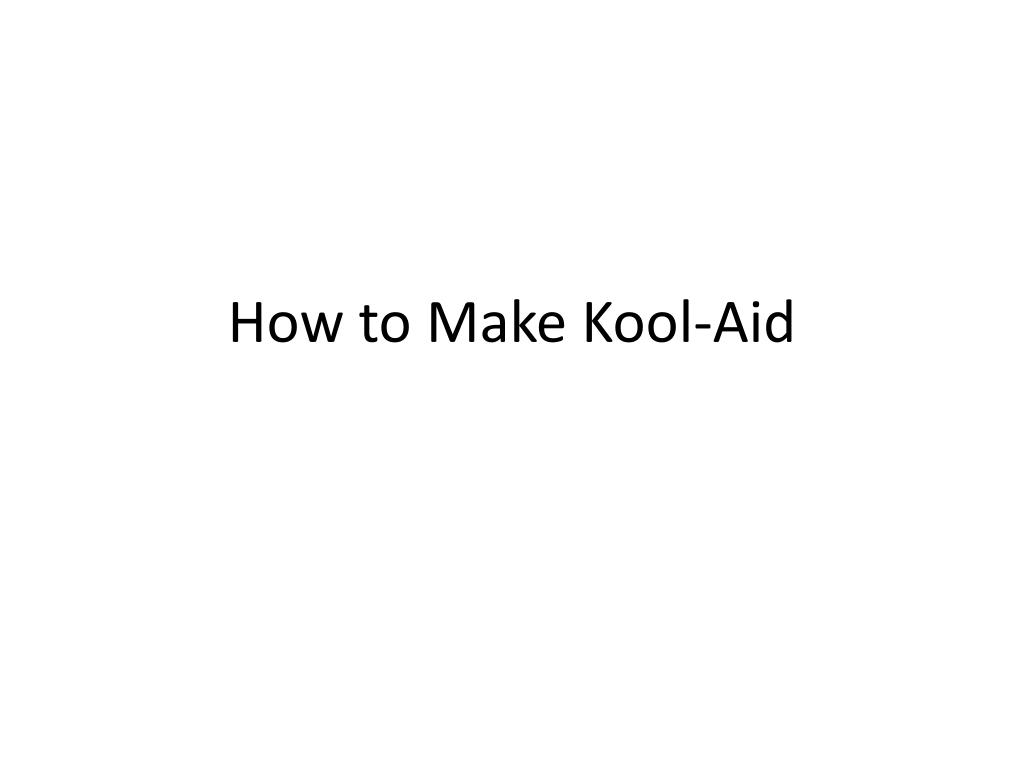 how to make kool aid l.
