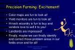 precision farming excitement