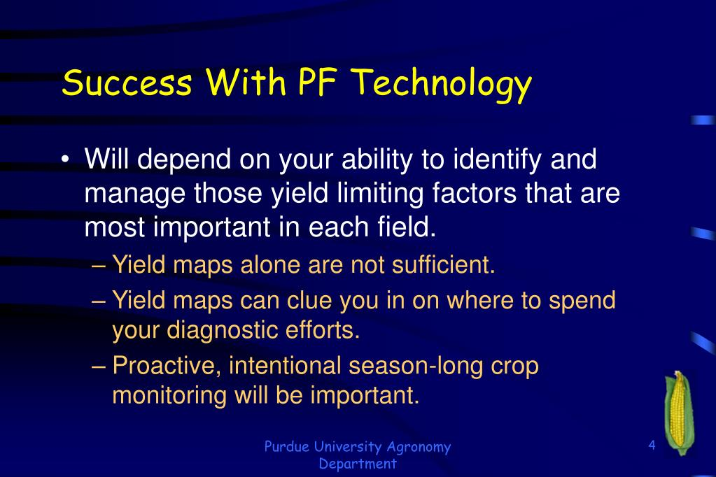 Success With PF Technology