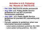 activities in u s following the results of pactg 076