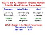 pactg 076 azt regimen targeted multiple potential time points of transmission
