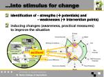 into stimulus for change8
