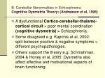 b cerebellar abnormalities in schizophrenia cognitive dysmetria theory andreasen et al 1998