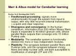 marr albus model for cerebellar learning1