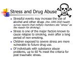 stress and drug abuse