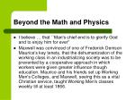 beyond the math and physics1
